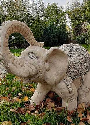 Садовая скульптура Слон, высота 40см