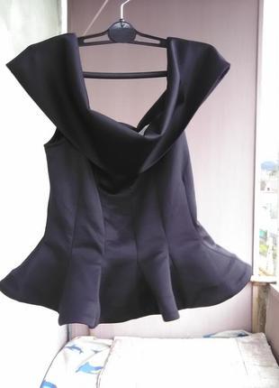 Крутая блуза-баска/корсет с баской