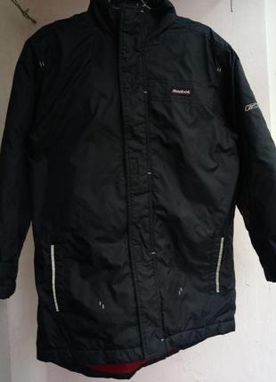 Демисезонная удлинённая куртка, тёмно-синяя