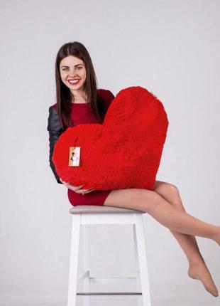 """Мягкая игрушка yarokuz подушка """"сердце"""" 75 см"""