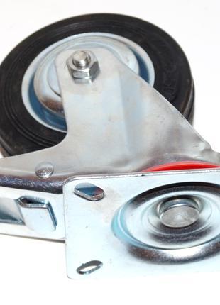 Колесо для тележки, тачки, с металлическим основанием, 100 мм