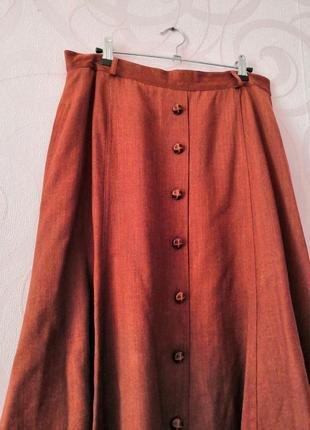 Коричневая юбка, шерсть, винтаж, ретро