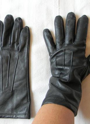 Кожаные перчатки на подкладке р.l