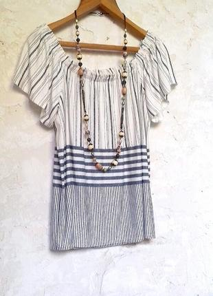 Стильная блузка с открытыми плечами вискоза