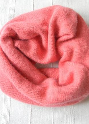 Снуд/труба/гольф/шарф от h&m розово-коралловый цвет one size