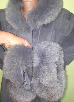46р пальто на подстежке baronita натуральная опушка идеальное ...