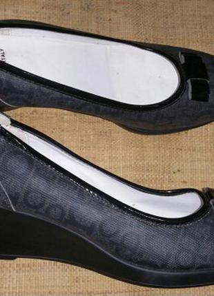 Rb made in italy туфли 26.5 стелька ширина 8 см танкетка 6 см ...