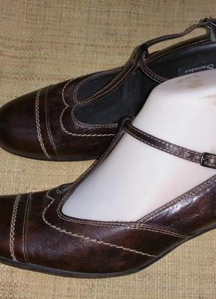6р-27 см кожа туфли paul green  каблук 6 см ширина стельки 8.3