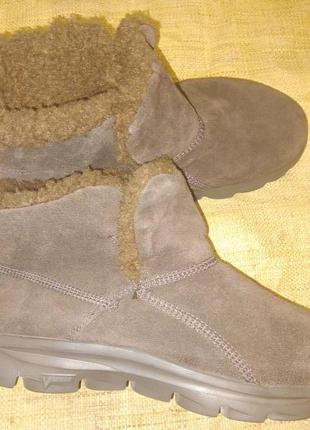 Евро 41р-28 см замша зима ботинки skeches vstide memory fur на...