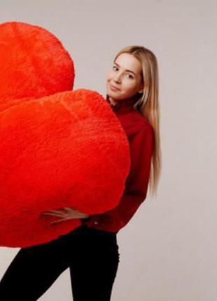 """Мягкая игрушка  подушка """"сердце"""" 150 см красная"""