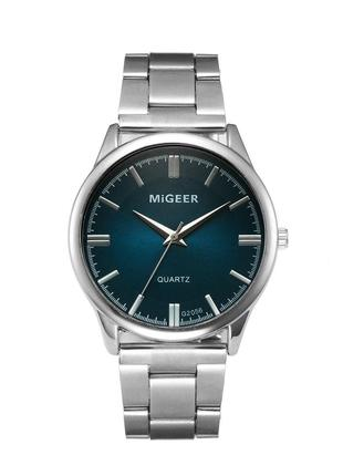 Мужские стильные наручные часы «Migger» зеленый циферблат