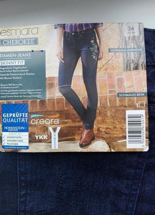 Женские джинсы с вышивкой 42 -44 р Esmara