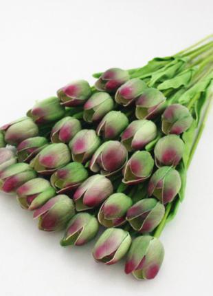 Искусственные тюльпаны зеленые - 5 штук