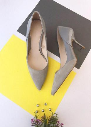 Замшевые туфли лодочки zara