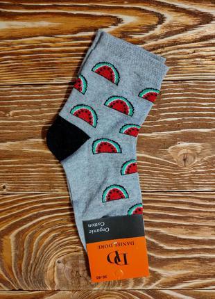 """Хлопковые носки женские с рисунком фрукты """"арбуз"""""""