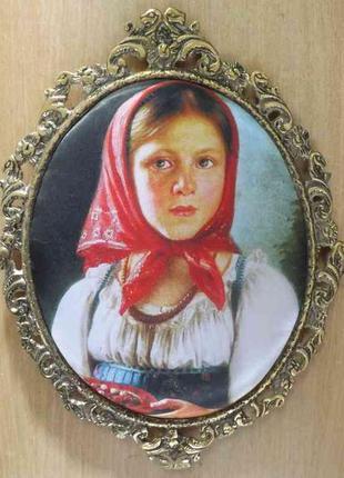 Картина в бронзовой рамке, шелкография