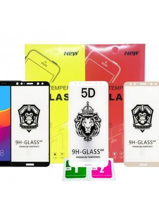 Защитное стекло 5D (полная проклейка) xiaomi Huawei Samsung Iphon
