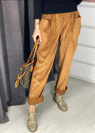 Вельветовые стильные брюки