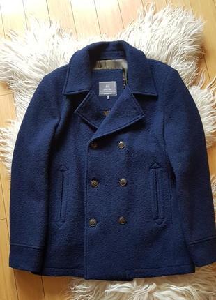 Стильное пальто 100% шерсть. duck side.