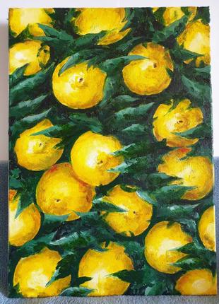 Картина маслом Лимоны