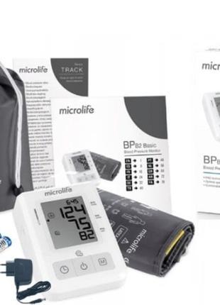 Тонометр MICROLIFE BP B2 Basic с блоком питания + 4 батарейки