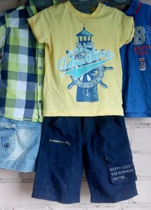 Брендовые футболки (поло) и шорты на лето, комплект