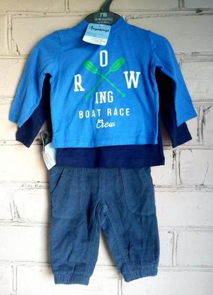 Летний фирменный комплект на мальчика, шорты и две кофты (лонг...