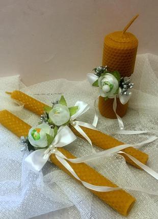 """Комплект свадебных свечей  из натуральной вощины для обряда """"с..."""