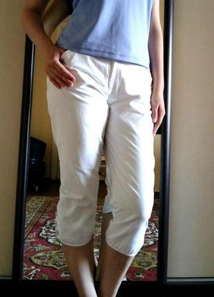 Спортивные белые бриджи, капри, штаны, женские
