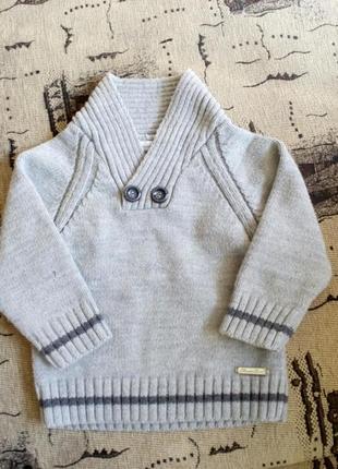 Очень теплый зимний детский свитер на мальчика