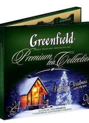 Чай Greenfield подарочный набор новогодний 96 пакетиков