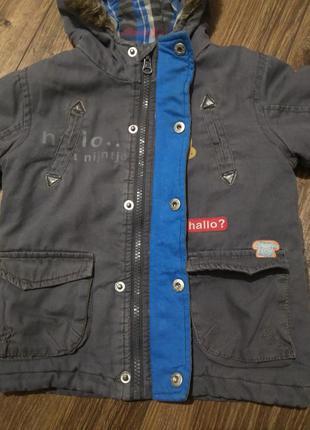 Куртка парка еврозима на мальчика nijn