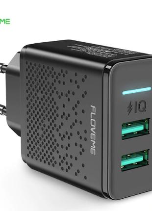 FLOVEME GC-06 зарядное устройство на 2 USB 5V 2.4A быстрая зарядк