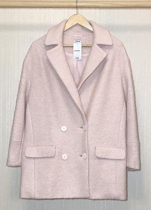 Новое в стиле оверсайз шерстяное двубортное пальто актуальной ...