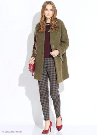 Классное шерстяное пальто в стиле оверсайз от pinko