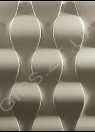 Гипсовая 3д панель Чешуя