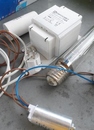 Комплект Днат 400W с конденсатором подключен