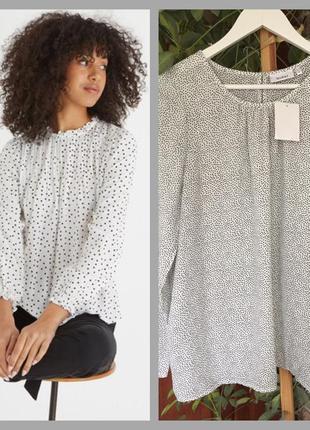 Нова блуза в горох розмір s-m,🔥