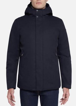 Дуже тепла куртка для чоловіка, розмір м-л, гарного темно-синь...