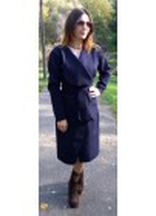 Модное женское пальто из кашемира