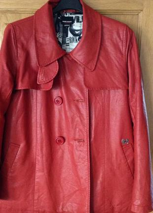 Куртка бомба из эко кожи молодежного бренда miss sixty