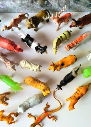 Игрушки фигурки набор животных