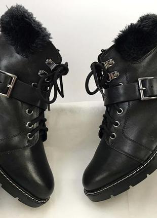 Женские ботинки натуральные кожаные новые 37 размер на меху ев...