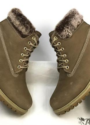Женские ботинки натуральный нубук на меху новые 39 размер