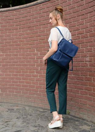 Женский синий портфель для учебы