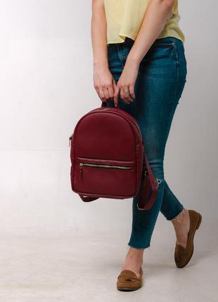 Женский бордовый портфель для учебы