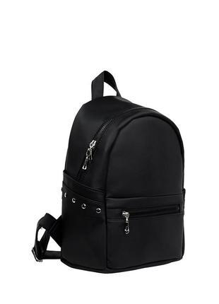 Женский черный рюкзак для путешествий, кожзам . черная пятница...
