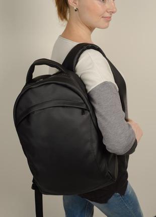 Вместительный женский черный портфель для учебы