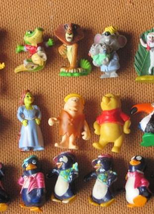 Киндеры чупа чупс шокобол Kinder игрушки (пингвин мадагаскар шрек