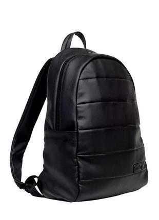 Мужской черный рюкзак в спортзал, кожзам